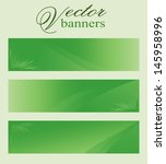 set of green vector banners ... | Shutterstock .eps vector #145958996