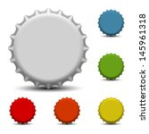 Colorful Bottle Caps Vector
