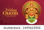 happy onam kathakali... | Shutterstock .eps vector #1459623503