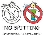 funny vector spitting stick man ... | Shutterstock .eps vector #1459625843