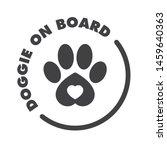 Vector Black Car Stickers Dog...