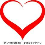 red heart icon vector... | Shutterstock .eps vector #1459644440