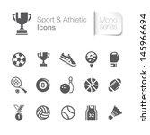sport   athletic related icons. | Shutterstock .eps vector #145966694