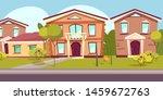 suburban neighborhood flat...   Shutterstock .eps vector #1459672763