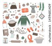 hygge lifestyle vector... | Shutterstock .eps vector #1459681409