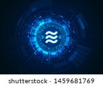 concept of cryptocurrency... | Shutterstock .eps vector #1459681769