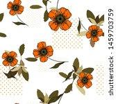 bohemian garden with wild...   Shutterstock .eps vector #1459703759