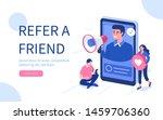 refer a friend concept.  flat...   Shutterstock .eps vector #1459706360