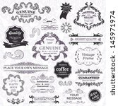 vector set  calligraphic design ... | Shutterstock .eps vector #145971974