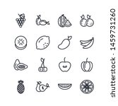 set of fruits vector line icons....   Shutterstock .eps vector #1459731260