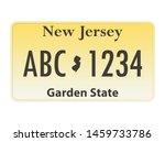 license plate new jersey.... | Shutterstock .eps vector #1459733786