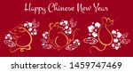 chinese new year 2020. the year ... | Shutterstock .eps vector #1459747469