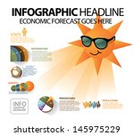 sunny forecast info graphic.... | Shutterstock .eps vector #145975229
