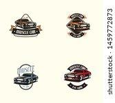 muscle car logo template in... | Shutterstock .eps vector #1459772873