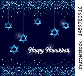 luxury festive happy hanukkah... | Shutterstock .eps vector #1459783916