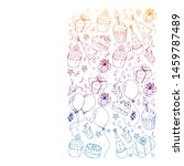 birthday party. pattern for... | Shutterstock .eps vector #1459787489