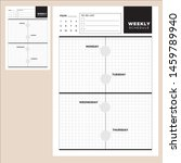 weekly planner schedule. monday ... | Shutterstock .eps vector #1459789940