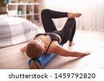 Woman Doing Exercises  Lying...
