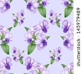 bright penciled lilac orchid...   Shutterstock . vector #145979489