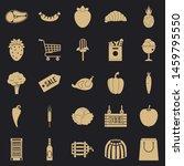 Food Sale Icons Set. Simple Set ...