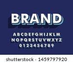 font. modern 3d font and... | Shutterstock .eps vector #1459797920