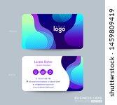 modern business card design... | Shutterstock .eps vector #1459809419
