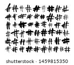 hand drawn hashtag signs...   Shutterstock .eps vector #1459815350