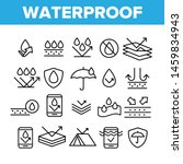 waterproof  water resistant... | Shutterstock .eps vector #1459834943