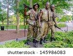 Vietnam Veterans Memorial Statue, Washington DC, USA