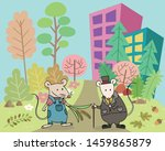 the town mouse and the country... | Shutterstock .eps vector #1459865879