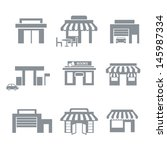 shop icons | Shutterstock .eps vector #145987334