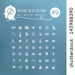 Music icon set,vector