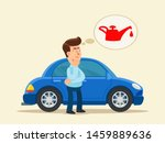 standing confused driver near... | Shutterstock .eps vector #1459889636