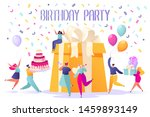 happy birthday party... | Shutterstock .eps vector #1459893149