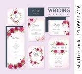 beautiful wedding invitation... | Shutterstock .eps vector #1459911719