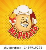 mr. potato chef with french... | Shutterstock .eps vector #1459919276