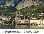a beautiful promenade sea of... | Shutterstock . vector #145992824