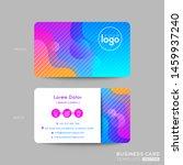 modern business card design... | Shutterstock .eps vector #1459937240