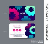 business card design with... | Shutterstock .eps vector #1459937243