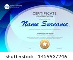 certificate template with oval... | Shutterstock .eps vector #1459937246