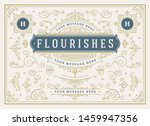 vintage ornaments swirls and... | Shutterstock .eps vector #1459947356