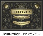 vintage ornaments swirls and... | Shutterstock .eps vector #1459947713
