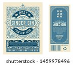 vintage label with gin liquor... | Shutterstock .eps vector #1459978496
