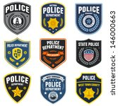 set of police law enforcement... | Shutterstock . vector #146000663
