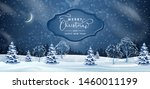 christmas night background.... | Shutterstock .eps vector #1460011199