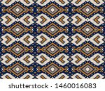 ikat geometric folklore... | Shutterstock .eps vector #1460016083