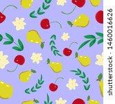 seamless nature fruits pattern... | Shutterstock .eps vector #1460016626