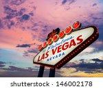 welcome to las vegas neon sign... | Shutterstock . vector #146002178