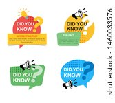 set of did you know badges with ... | Shutterstock .eps vector #1460033576