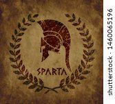old shabby symbol of  spartan...   Shutterstock .eps vector #1460065196